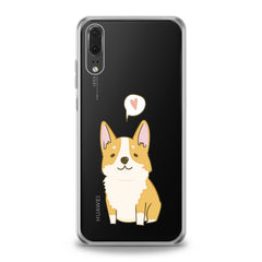 Lex Altern TPU Silicone Huawei Honor Case Cute Baby Corgi