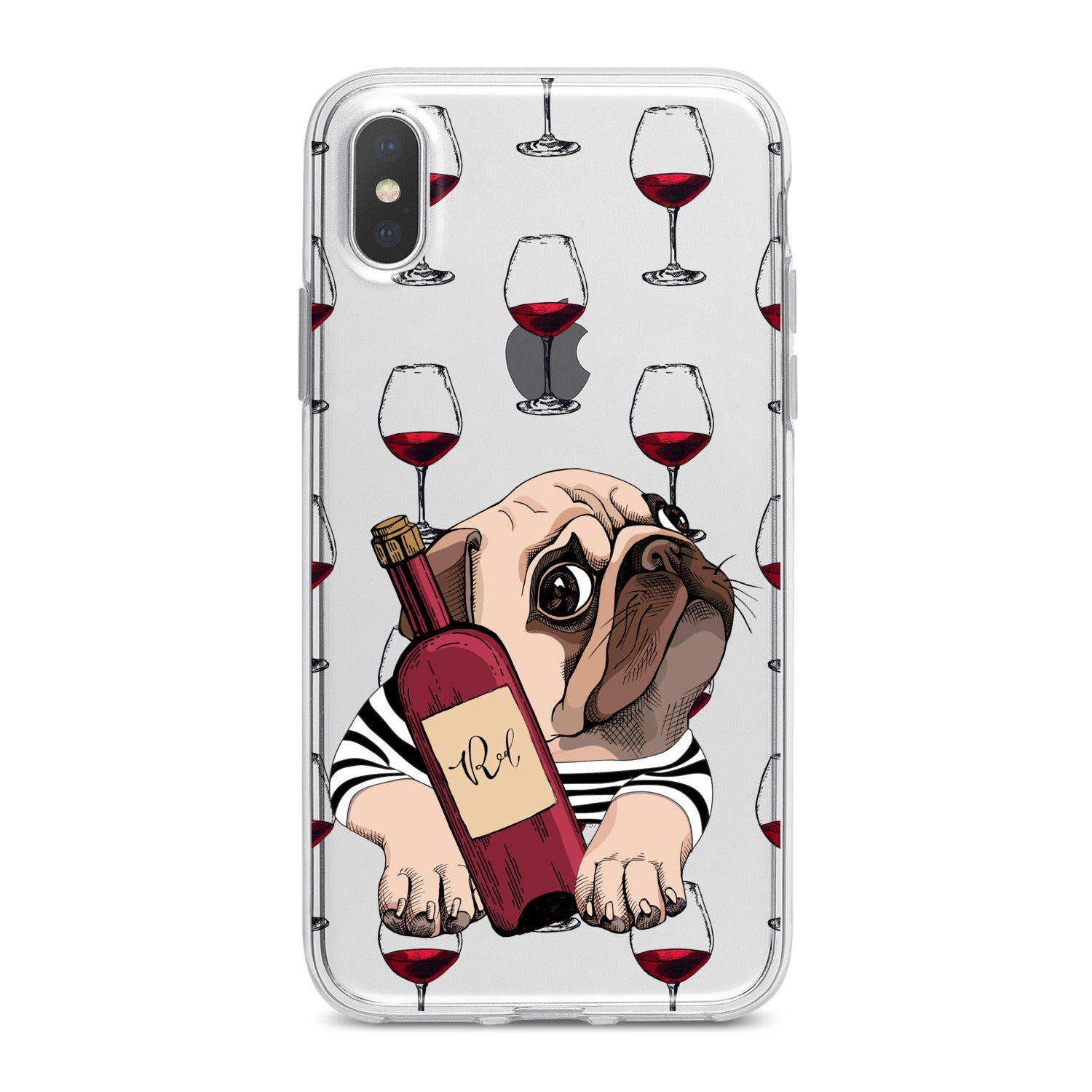 Lex Altern Wine Pug Phone Case for your iPhone & Android phone.