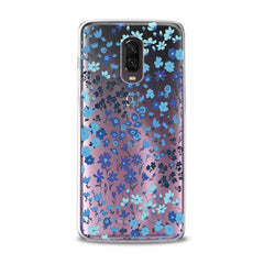 Lex Altern TPU Silicone Phone Case Cute Blue Flowers