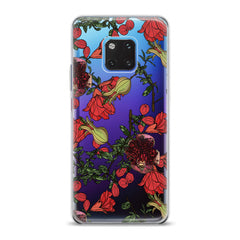 Lex Altern TPU Silicone Huawei Honor Case Red Garnet Blossom