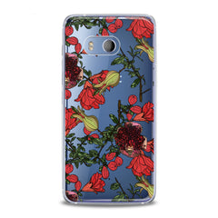 Lex Altern TPU Silicone HTC Case Red Garnet Blossom
