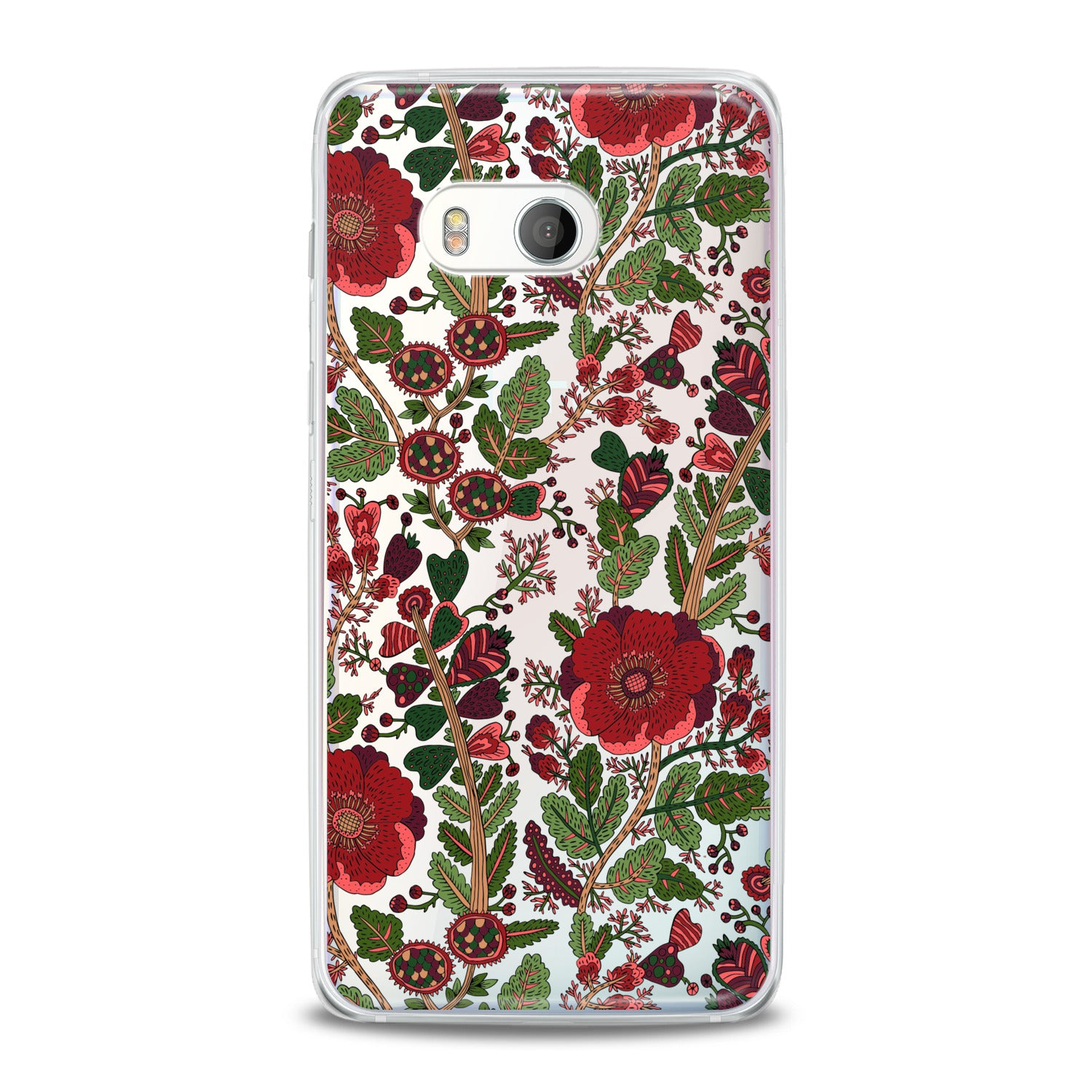 Lex Altern Drawing Red Blooming HTC Case