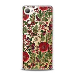 Lex Altern TPU Silicone HTC Case Drawing Red Blooming