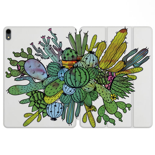 Lex Altern Magnetic iPad Case Abstract Cactus for your Apple tablet.