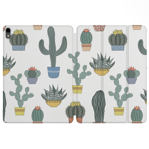 Lex Altern Magnetic iPad Case Vintage Cactus for your Apple tablet.