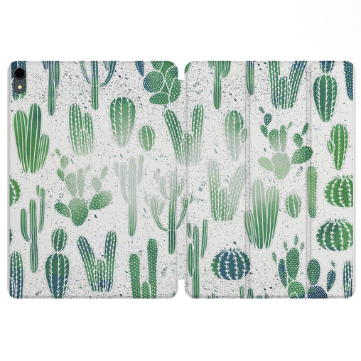 Lex Altern Magnetic iPad Case Cacti Pattern for your Apple tablet.