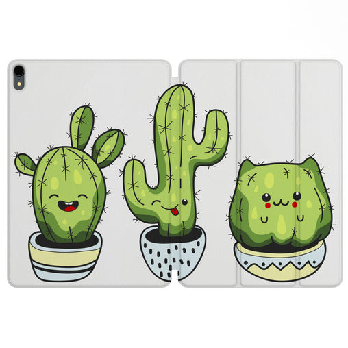 Lex Altern Magnetic iPad Case Kawaii Cactus for your Apple tablet.