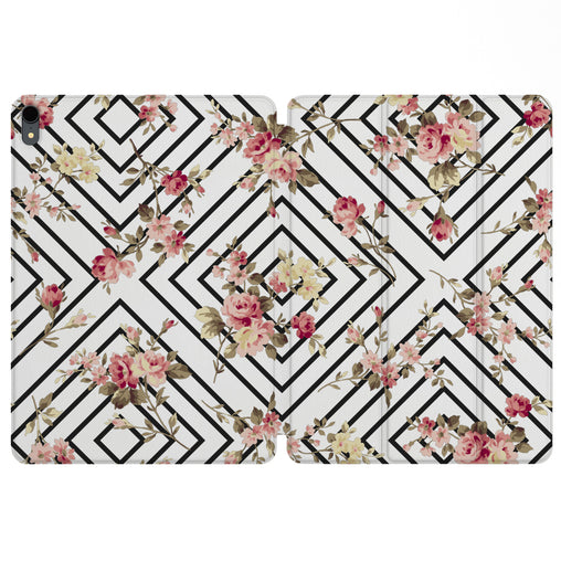 Lex Altern Magnetic iPad Case Floral Geometry for your Apple tablet.