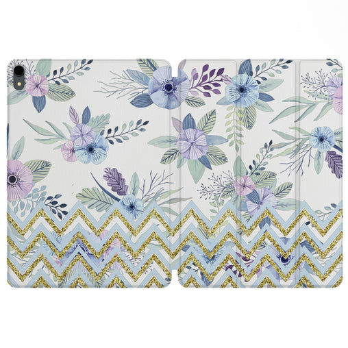 Lex Altern Magnetic iPad Case Zig Zag Flowers for your Apple tablet.