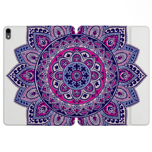 Lex Altern Magnetic iPad Case Bright Pink Mandala for your Apple tablet.
