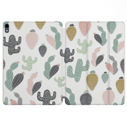 Lex Altern Magnetic iPad Case Pastel Cactus for your Apple tablet.