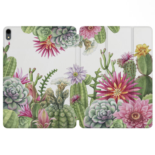 Lex Altern Magnetic iPad Case Floral Cactus for your Apple tablet.