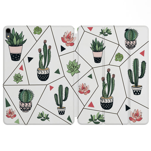 Lex Altern Magnetic iPad Case Geometric Cactus for your Apple tablet.