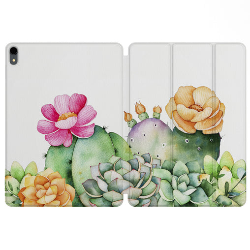 Lex Altern Magnetic iPad Case Cactus in Bloom for your Apple tablet.