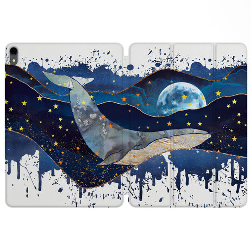 Lex Altern Magnetic iPad Case Night Whale for your Apple tablet.