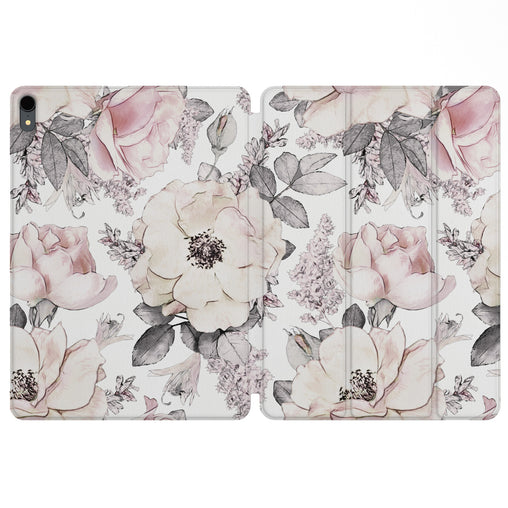 Lex Altern Magnetic iPad Case Pale Roses for your Apple tablet.