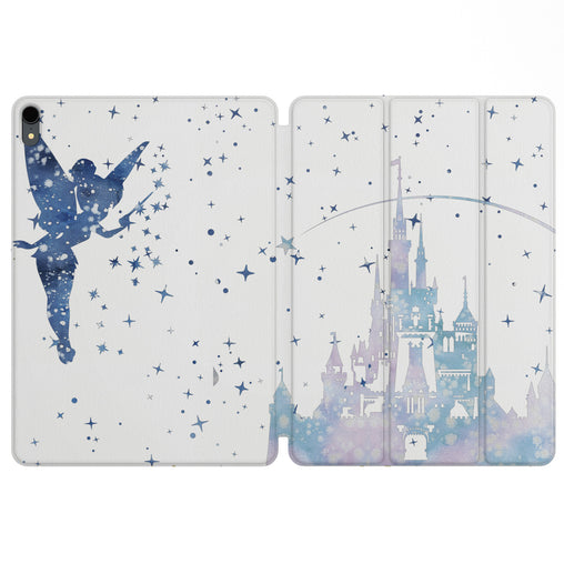 Lex Altern Magnetic iPad Case Tinker Bell Castle for your Apple tablet.