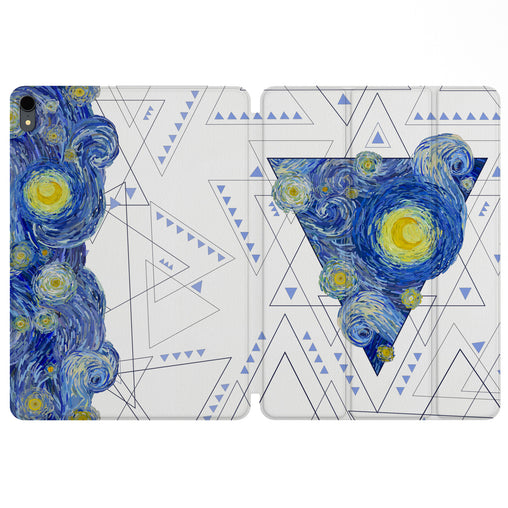 Lex Altern Magnetic iPad Case Starry Night Geometry for your Apple tablet.