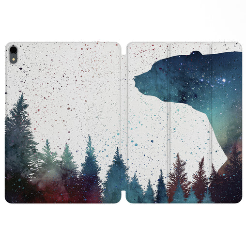 Lex Altern Magnetic iPad Case Galaxy Bear for your Apple tablet.