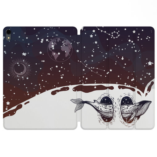Lex Altern Magnetic iPad Case Space Whale for your Apple tablet.
