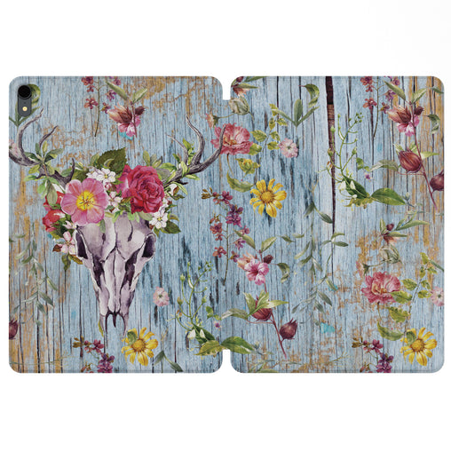 Lex Altern Magnetic iPad Case Boho Floral Wood for your Apple tablet.