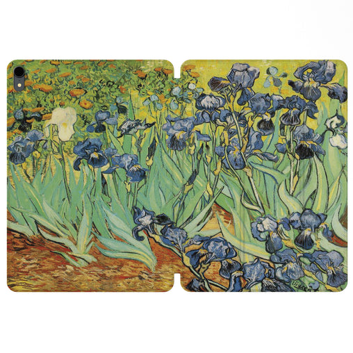 Lex Altern Magnetic iPad Case Irises Painting for your Apple tablet.