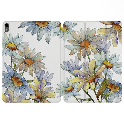 Lex Altern Magnetic iPad Case Daisy Watercolor for your Apple tablet.
