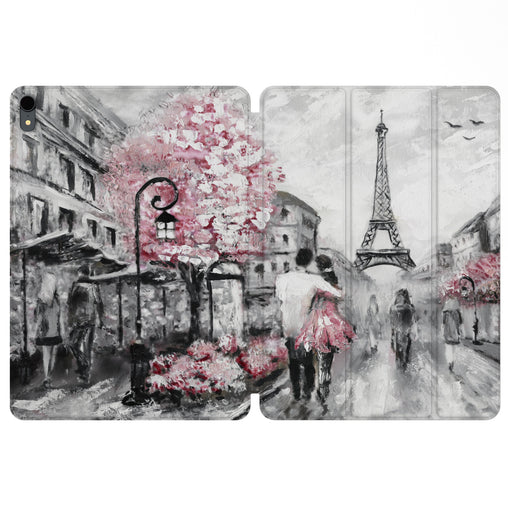 Lex Altern Magnetic iPad Case Paris Painting for your Apple tablet.