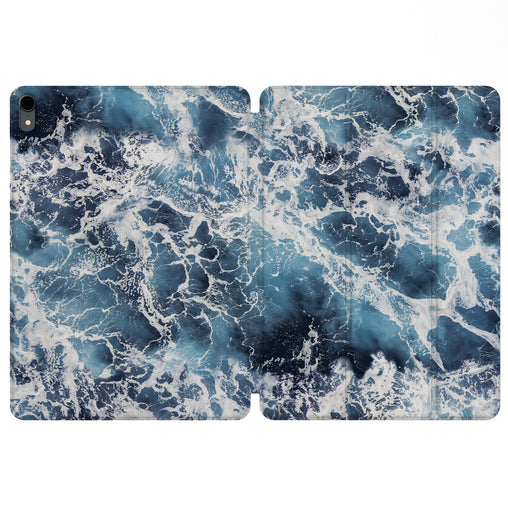 Lex Altern Magnetic iPad Case Ocean Waves for your Apple tablet.