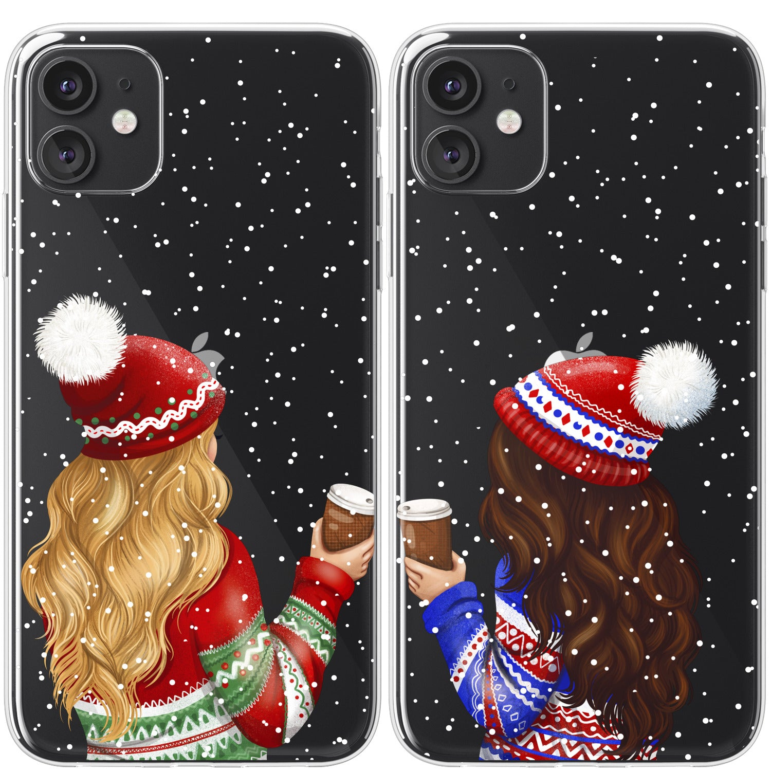 Lex Altern TPU Silicone Couple Case Christmas Girls