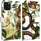 Lex Altern iPhone Wallet Case Snake in Flowers Wallet