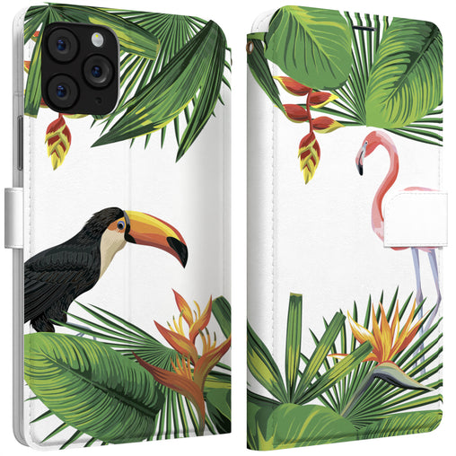Lex Altern iPhone Wallet Case Tropical Birds Wallet