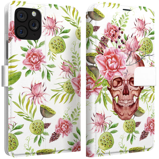 Lex Altern iPhone Wallet Case Floral Skeleton Wallet