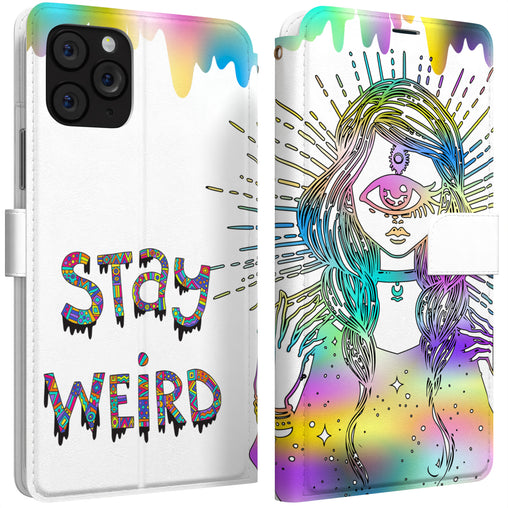 Lex Altern iPhone Wallet Case Stay Weird Wallet