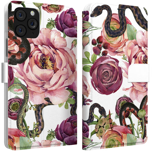 Lex Altern iPhone Wallet Case Peony Snake Wallet