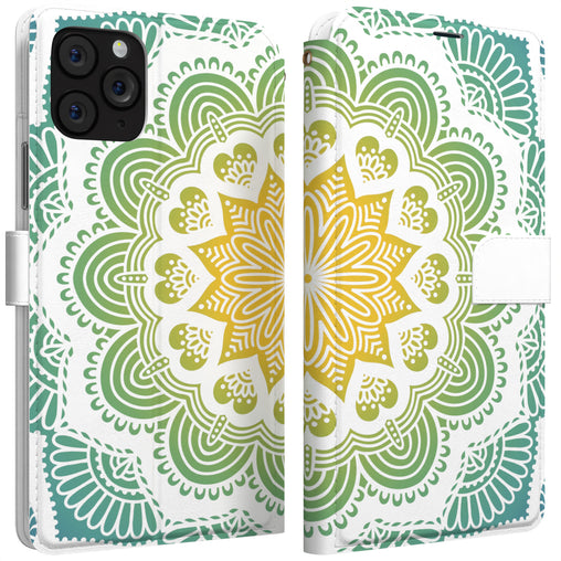 Lex Altern iPhone Wallet Case Green Mandala Wallet