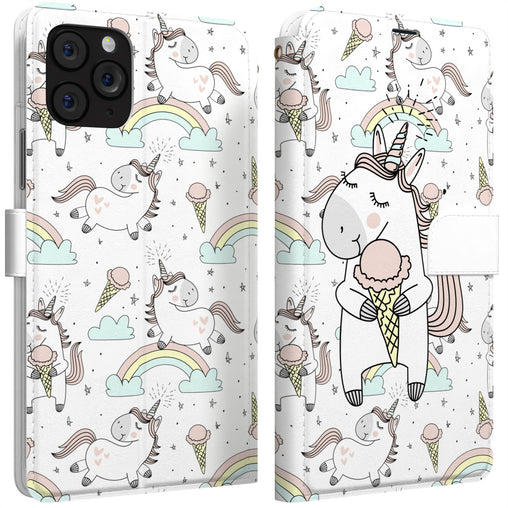 Lex Altern iPhone Wallet Case Ice-Cream Unicorn Wallet