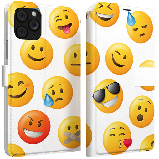 Lex Altern iPhone Wallet Case Emoji Icons Wallet