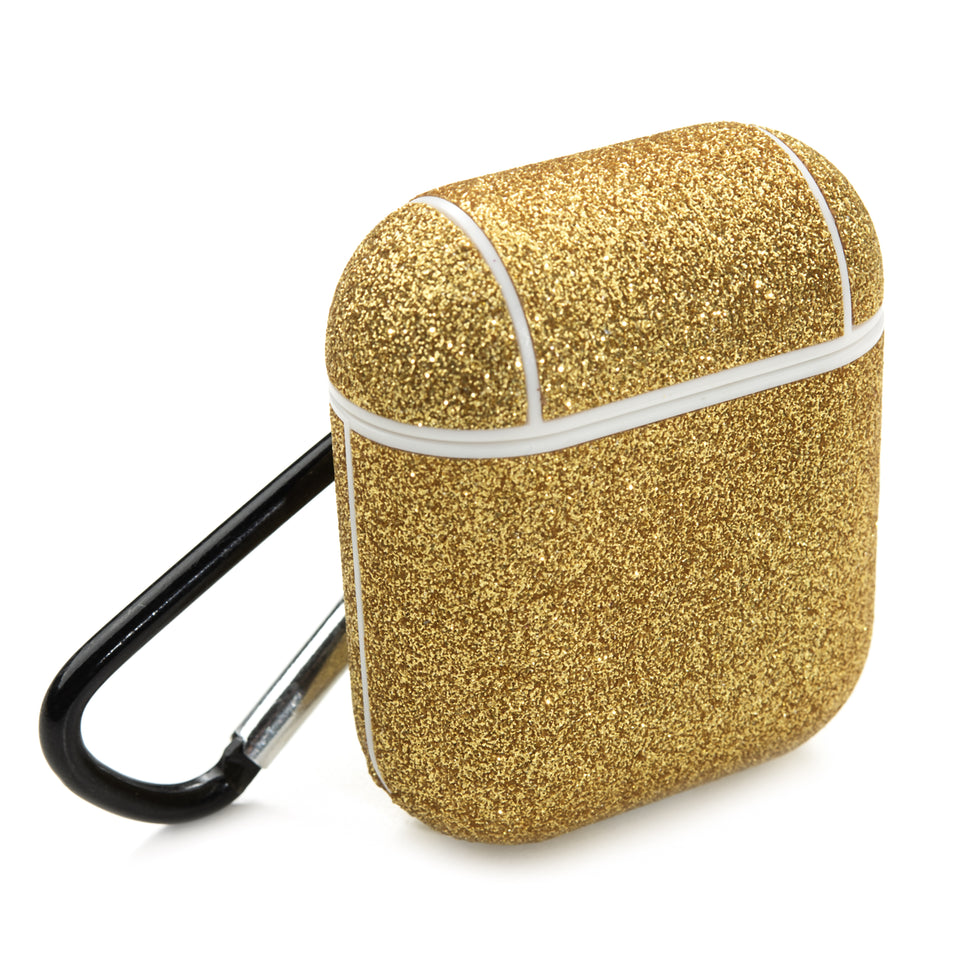 Glitter Coated AirPod Case - Gold