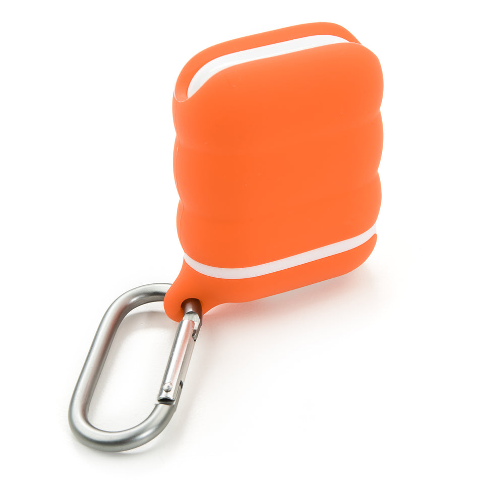 Water-Resistant AirPod Case - Orange n' White