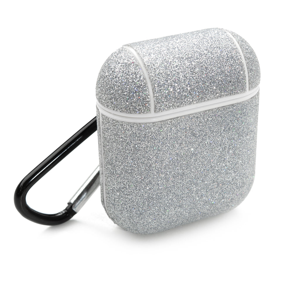 Glitter Coated AirPod Case - Silver