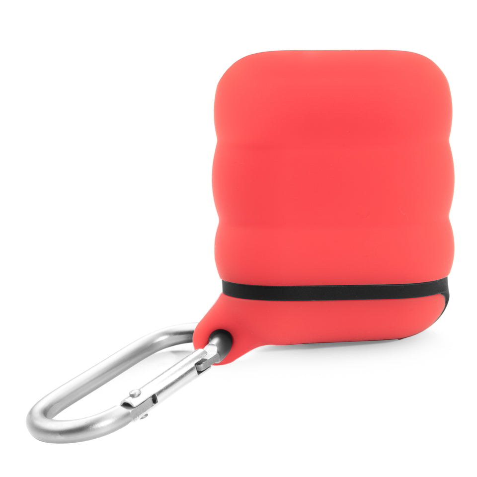 Water-Resistant AirPod Case - Red n' Black