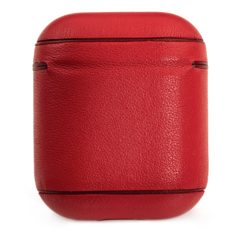 Genuine Leather AirPod Case - Crimson