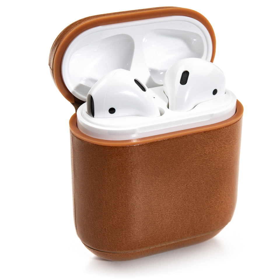 Genuine Leather AirPod Case - Caramel