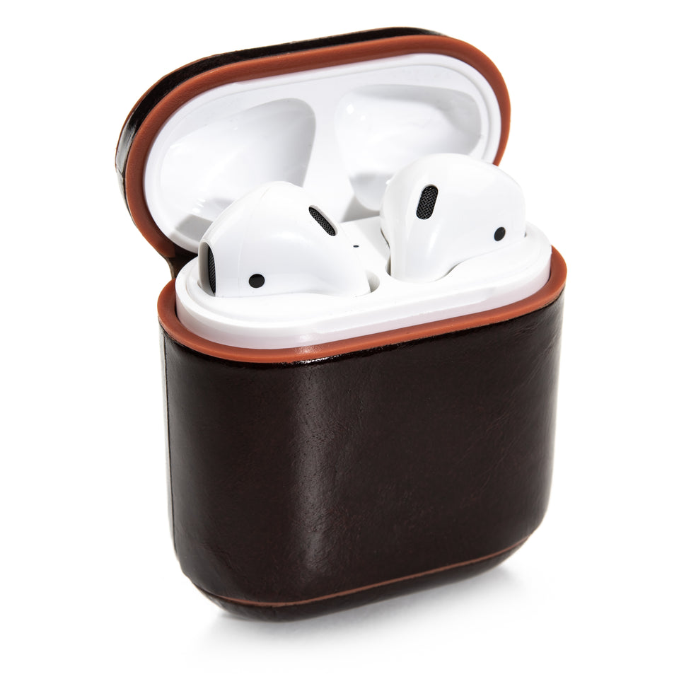 Genuine Leather AirPod Case - Chocolate