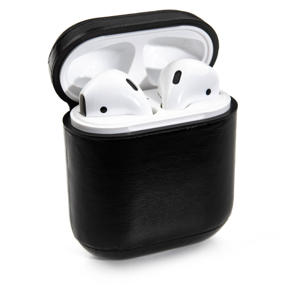 Genuine Leather AirPod Case - Obsidian
