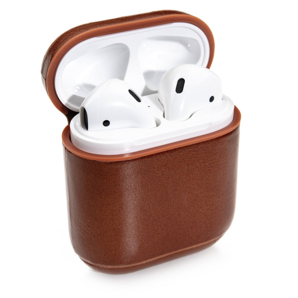 Genuine Leather AirPod Case - Cinnamon