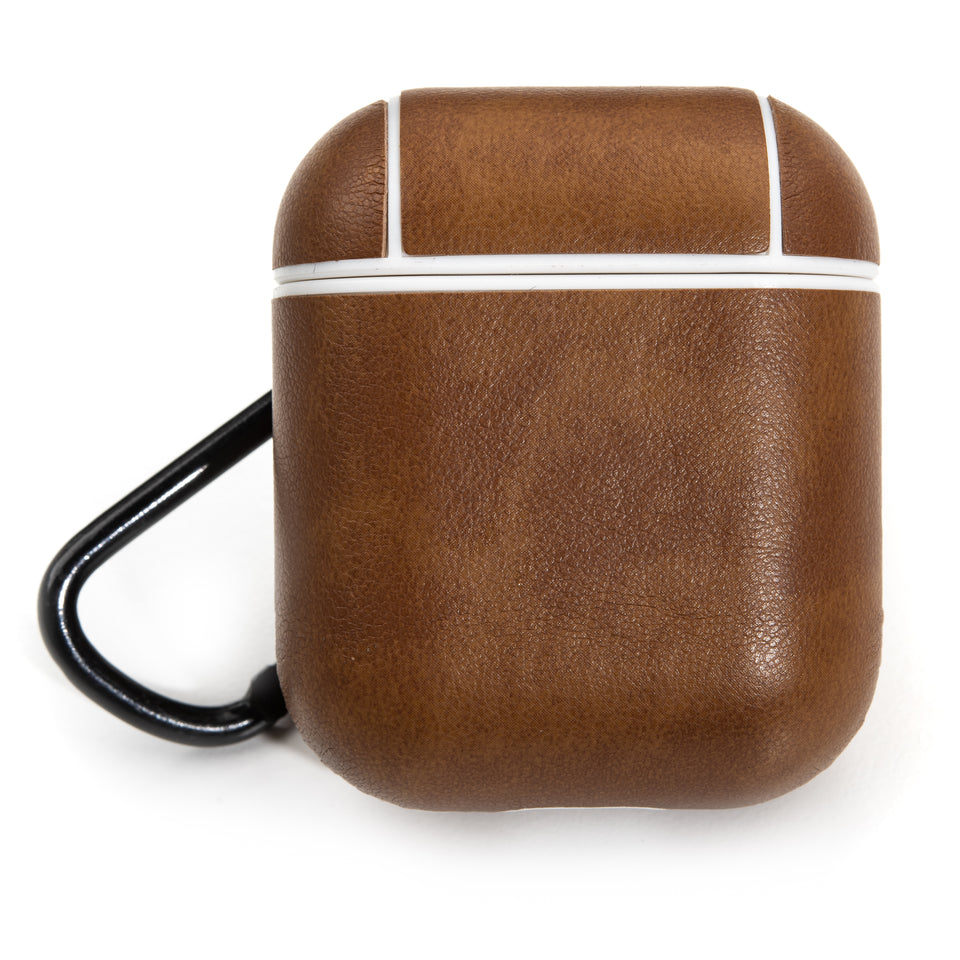 Split Leather AirPod Case - Russet