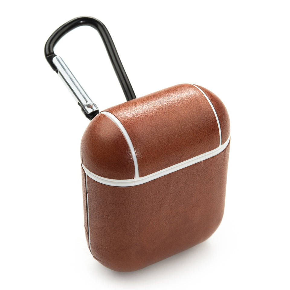 Split Leather AirPod Case - Gingerbread