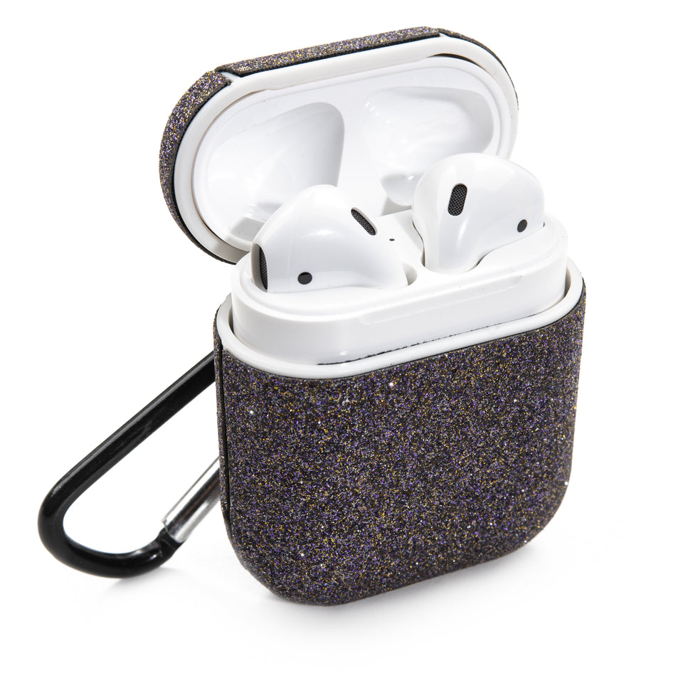 Glitter Coated AirPod Case - Dark Gray